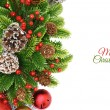 Christmas wreath background — Stock Photo