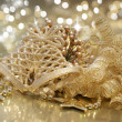 Gold Christmas background — ストック写真