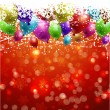 Christmas background with balloons — Stock Photo