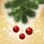 Christmas bauble background — Stock Photo