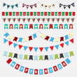 Christmas and New Year bunting — Stock Photo