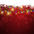 Christmas lights and snowflakes background — Stock Photo