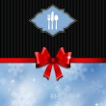 Christmas menu design — Stock Photo