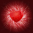 Valentines Day Heart background — Stock Photo