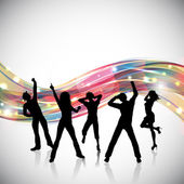 Party people background — Stockfoto