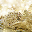 Gold Christmas background — Foto Stock