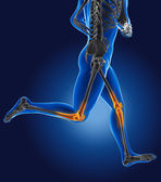 3D running medical man — Stock Photo