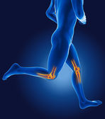 3D running medical man — Stock Photo