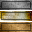 Stock Photo: Grunge metal plates