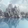 Stock Photo: Ice mountain range