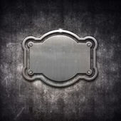 Metal frame on grunge background — Stock Photo