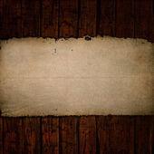 Papel antiguo en madera de grunge — Foto de Stock