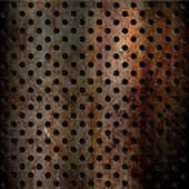 Rusty perforated metal background — Foto Stock