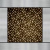 Metal on carbon fibre — Stock Photo