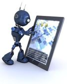Android with mobile tablet device — Stock Photo