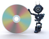 Android with DVD Disc — Stock Photo