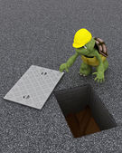 Tortoise building contractor — Stock Photo
