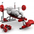 Foto Stock: Lifting weights