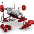 Stok fotoğraf: Lifting weights