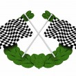 Chequered flags — Stock Photo #36407689