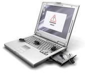 Erros de computador — Foto Stock