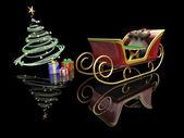 Santas släde — Stockfoto