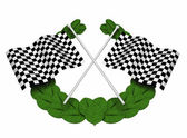 Chequered flags — Stock Photo