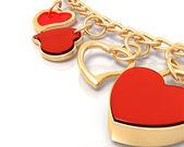 Bracelet of hearts — Stock Photo