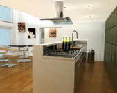 Contemporary kitchen — Stock Photo