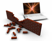 Breached internet security — Stock Photo