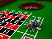 Mesa de ruleta — Foto de Stock
