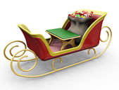 Santas sleigh — Stock Photo