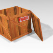 Stock Photo: Open wooden crate