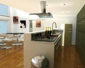 キッチンのインテリア — ストック写真