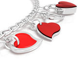 Bracelet of hearts — Stock Photo