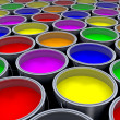 Stock Photo: Paint cans