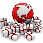 Gifts around the world — Stock Photo #36890721