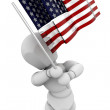 Person waving American flag — Stock Photo #36890735