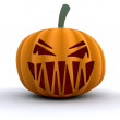 Scary pumpkin — Stock Photo