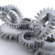Interlocking gears — Stock Photo