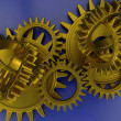 Stock Photo: Interlocking gears