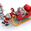 Santand his sleigh — Stock Photo #36892587