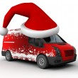 Stock Photo: Christmas delivery van