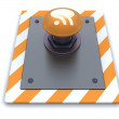 Stock Photo: RSS push button
