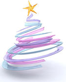 Glass spiral Christmas tree — Stock Photo