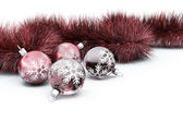 Baubles and tinsel — Stock Photo