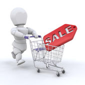 Shopping in the sales — Stockfoto