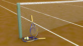 Clay tennis court — Stock Photo