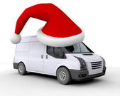 Christmas leverans van — Stockfoto