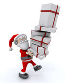 Santa and gifts — Stock Photo